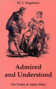 Cover: Admired and Understood: The Poetry of Aphra Behn