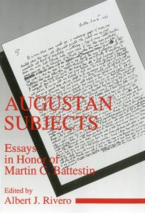 Cover: Augustan Subjects: Essays in Honor of Martin C. Battestin