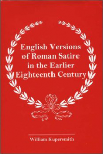 Cover: English Versions of Roman Satire in the Earlier Eighteenth Century