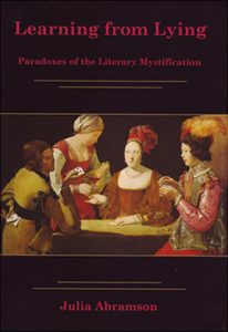 Cover: Learning from Lying: Paradoxes of the Literary Mystification