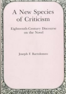 Cover: A New Species of Criticism: Eighteenth-Century Discourse on the Novel