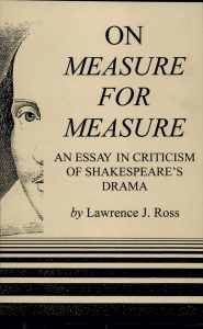 Cover: On Measure for Measure: An Essay in Criticism of Shakespeare's Drama