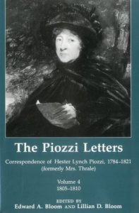 Cover: The Piozzi Letters: Correspondence of Hester Lynch Piozzi, 1784-1821 (formerly Mrs. Thrale), Volume 4, 1805-1810