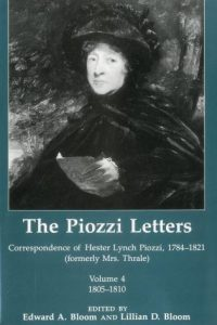 The Piozzi Letters: Correspondence of Hester Lynch Piozzi, 1784-1821 (formerly Mrs. Thrale), Volume 4, 1805-1810