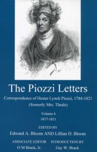 Cover: The Piozzi Letters: Correspondence of Hester Lynch Piozzi, 1784-1821 (formerly Mrs. Thrale), Volume 6, 1817-1821