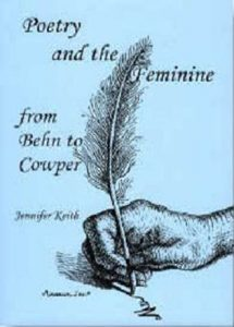 Cover: Poetry and the Feminine from Behn to Cowper