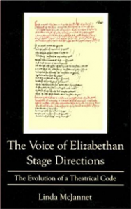 Cover: The Voice of Elizabethan Stage Directions: The Evolution of a Theatrical Code