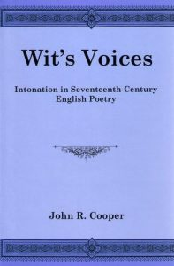 Cover: Wit's Voices: Intonation in Seventeenth-Century English Poetry
