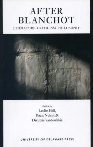 Cover: After Blanchot: Literature, Criticism, Philosophy